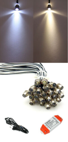 Lichtpunkte LED Sternenhimmel Weiss 0.2 Watt Verbrauch inkl 15W Trafo
