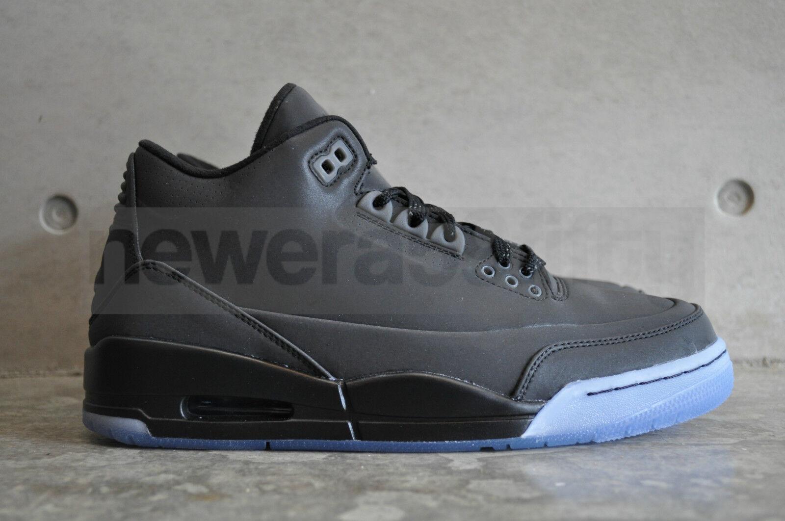 buy online b5a00 7fb36 Details about Nike Air Jordan 5Lab3 Black Reflective - Black/Black-Clear