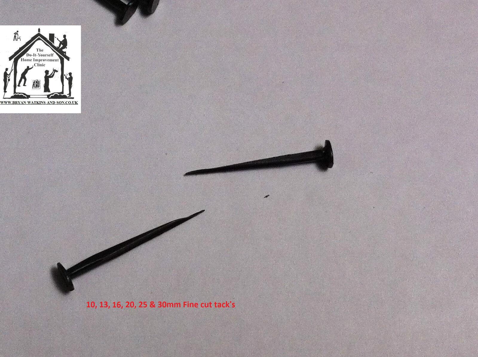 Upholstery tacks Blued cut tacks 10mm,13mm,15mm,20mm,25mm fine or improved.