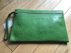 Image Is Loading Rochas Paris Clutch Wallet Purse Handbag Green Nwt