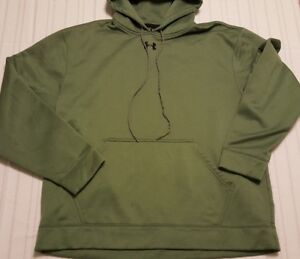 Under-Armour-Cold-Gear-Mens-Hoodie-Extra-Large-XL-hooded-sweatshirt-olive-green