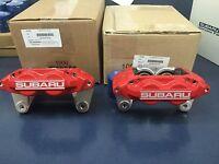 Genuine Subaru Wrx Red Subaru 4 Piston Brake Caliper Front Set Pair 2006-07