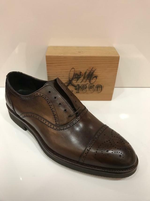 Nuevo En Caja Para Hombre Johnston & Murphy Ridgeland Puntera Zapato De Cuero en Marrón