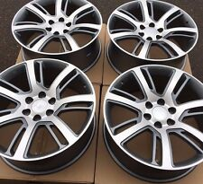 SET FOUR 22 GREY MACHIN WHEELS RIMS FITS CHEVY TAHOE SUBURBAN SILVERADO 1500 NEW