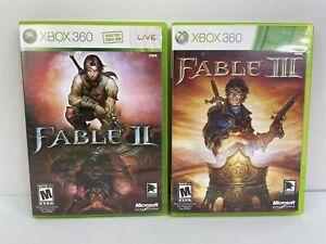 Lot Of 2: Fable II 2 & Fable III 3 (Microsoft Xbox 360) Video Game Bundle TESTED