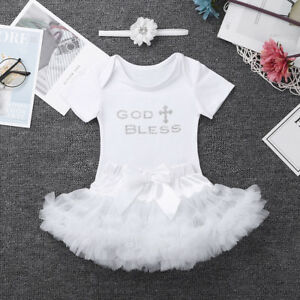 d2a04b2b9dcd9 Image is loading 3pcs-Outfit-Toddler-Baby-Princess-Girl-Baptism-Birthday-