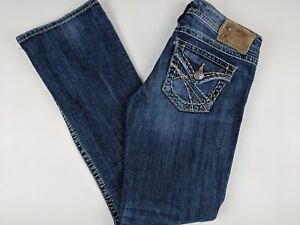 Silver-Women-039-s-Jeans-26-31-Pioneer-Boot-Cut-Medium-Wash-Stretch-Blue-Denim