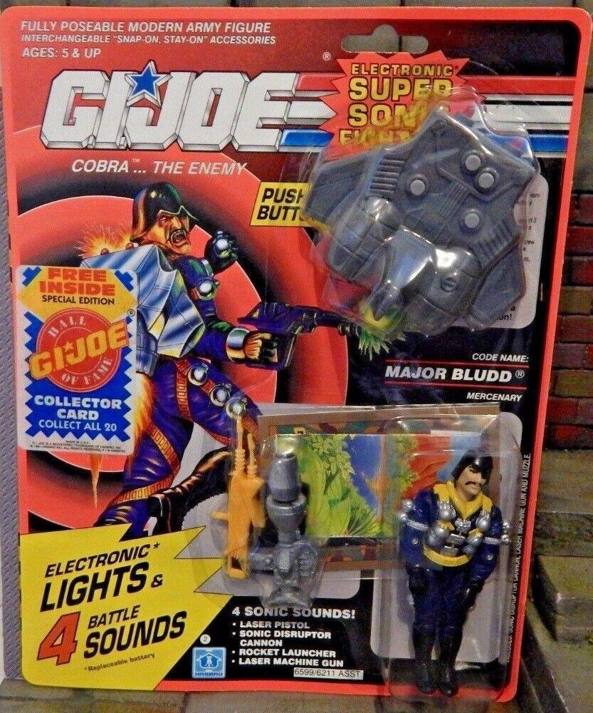 GI Joe Super Sonic  combatientes Major Bludd Cobra Mercenary Electronic suonos (MOC)  autorizzazione ufficiale