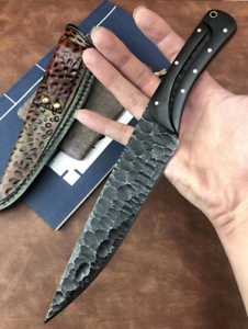 """10.4"""" Integrated Steel Fixed Blade Tactical Full Tang Knife Survival Camping EDC"""