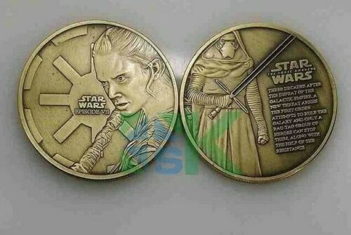 1 COIN STAR WARS THE FORCE AWAKENS JEDI THE FORCE REY KYLO REN GIFT BRONZE UK