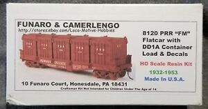 Funaro-F-amp-C-8120-PENNSYLVANIA-PRR-FM-Flatcar-w-5-DD1A-Containers-Load-1932-53