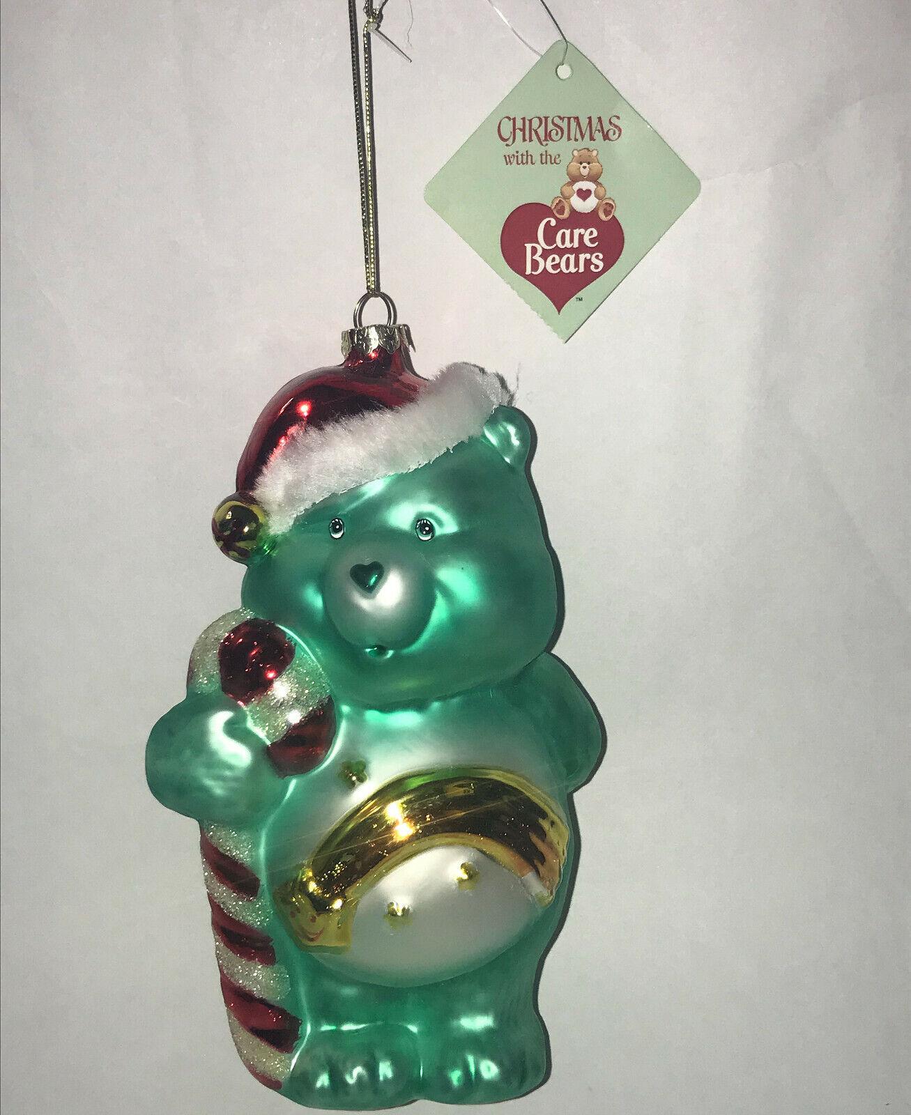 2003 Care Bears Santa WISH Bear Glass Blown Ornament American Greetings NWT