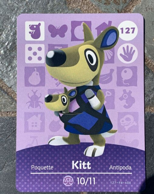 Kitt 127 New Mint And Never Scanned Animal Crossing Amiibo Card