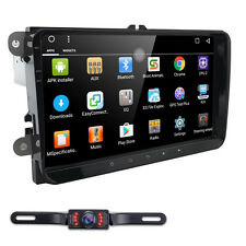 "LED CAM+Android 9"" Car Radio Stereo GPS Nav Touch Screen for VW Skoda Seat"