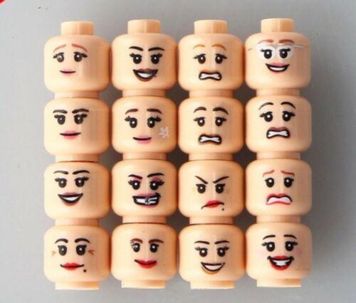 TT BRAND 16 CUSTOM EMOJI PRINT GIRL LADY MINIFIG HEADS FITS LEGO TORSO NEW