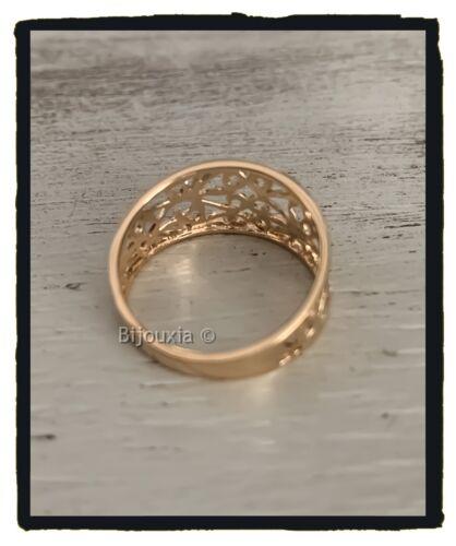 Ring Durchbrochen Vergoldet 18 Karat 750//1000 Damenschmuck Größen Auswahl 50