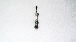 Details About Ruby Zoisite Beads Belly Button Navel Ring Body Jewelry Clear Crystals Natural