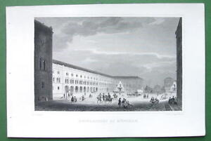 GERMANY-University-of-Munich-Antique-Print-Engraving