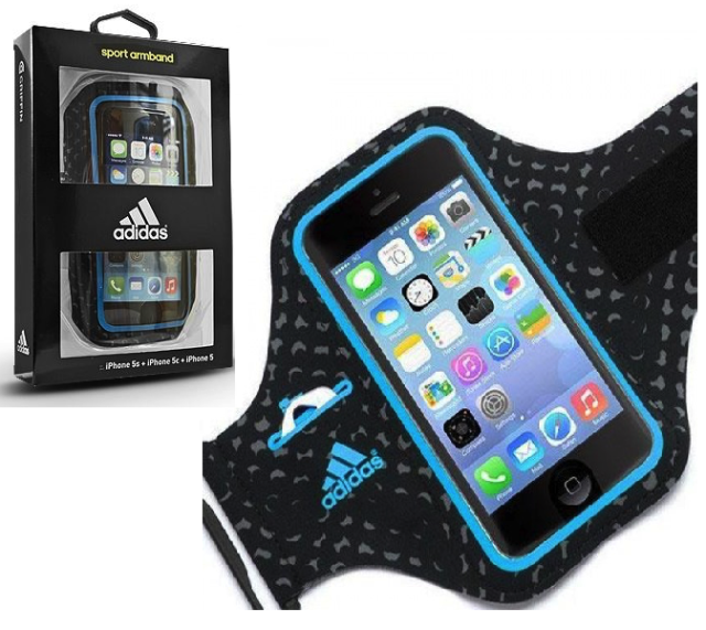 los angeles 01a2d a5943 Griffin Adidas Black Fitness Running Gym Armband Case for Apple iPhone 5 5s  SE