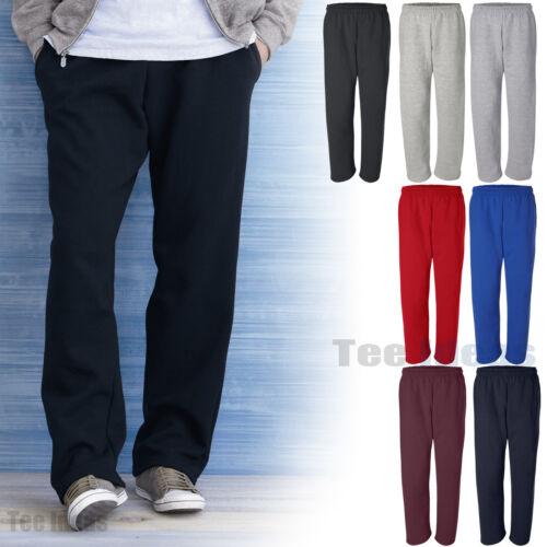 Gildan  Mens 50//50 Dryblend Open Bottom Pocketed Sweatpants S-2XL 12300-G123