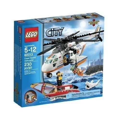 60013 COAST GUARD HELICOPTER lego NEW city town SEALED shark legos set