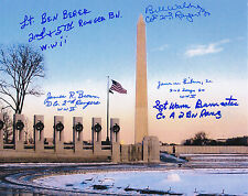 D-DAY Rangers Pointe-du-Hoc WWII COMBO SIGNED 8x10 SIGNED PHOTO AUTOGRAPHED