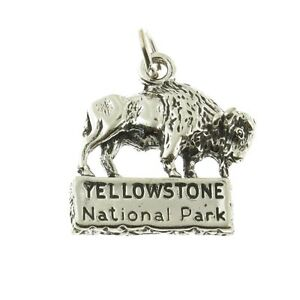 Details about 925 Sterling Silver Yellowstone National Park Buffalo Charm  Made in USA