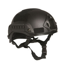 Mil-Tec MICH 2001 Military Army Police Tactical Training Helmet w/ Rails Black
