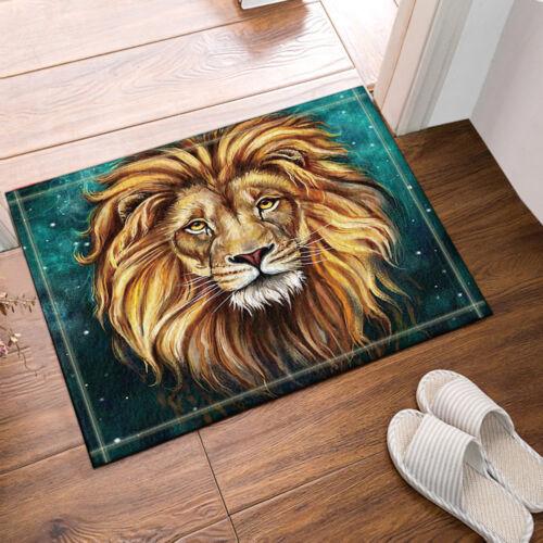 Animal Lion Soft Shower Room Mat Bathroom Cover Bath Non Slip Floor Rugs