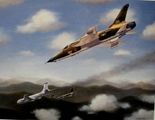'Flameout' F105 Aerial Refuelling 'Save',Signed by Col.Broughton and Mike Machat