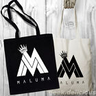 BOLSO NEGRO MALUMA LOGO CANTANTE LATINO TOTE BAG HANDBAG PURSE SHOPPING COTTON