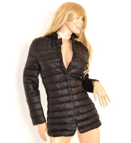 Nero Imbottito Cappottino Giaccone 70 Куртка Cappotto Piumino Donna Giubbotto w4a4x