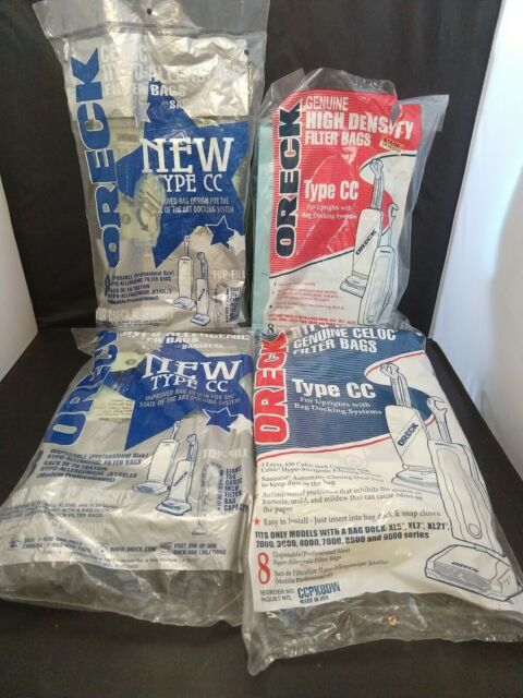 Genuine Oreck Vacuum Cleaner Bags Type CC Lot of 26 Bag dock style new/open