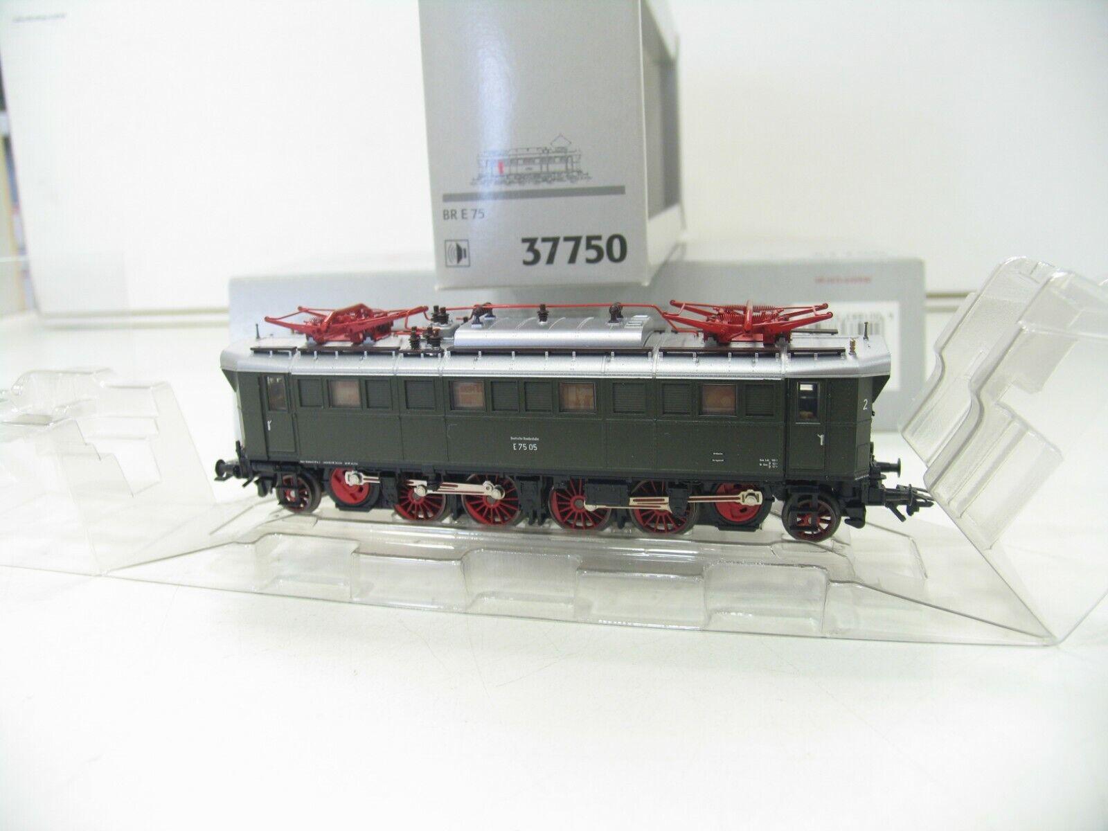 MÄRKLIN 37750 E-LOK E 75 GRÜN der DB  DIGITAL SOUND   NH929