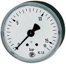 ABVERKAUF RIEGLER Standardmanometer G1//2 senkr.100mm 0-6bar Einfachskala in bar