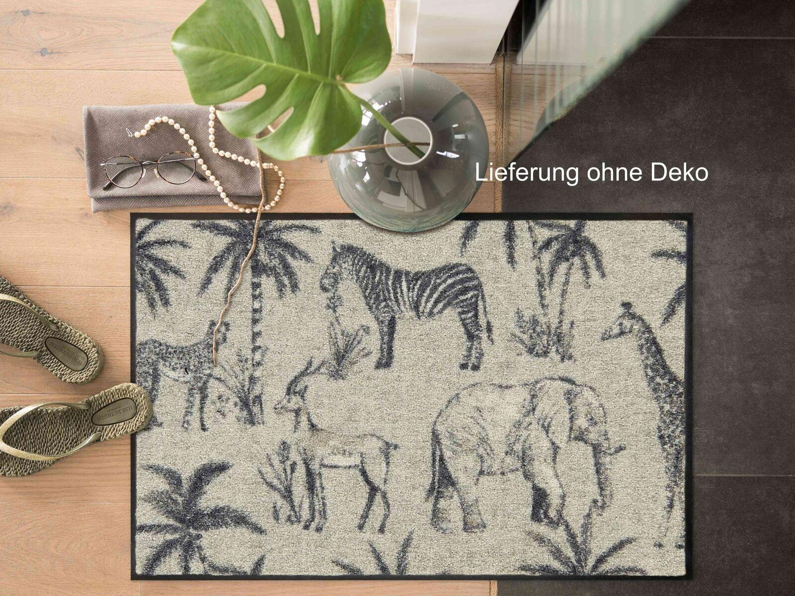 Salonloewe Salonloewe Salonloewe Fußmatte Afrikatiere waschbarer Türvorleger Läufer Fußabtreter Tiere 31bf41