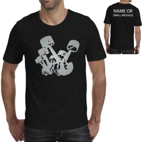 Engine Pistons Cylinders T Shirt Car Mechanic Motor Parts Engineer Gift Present