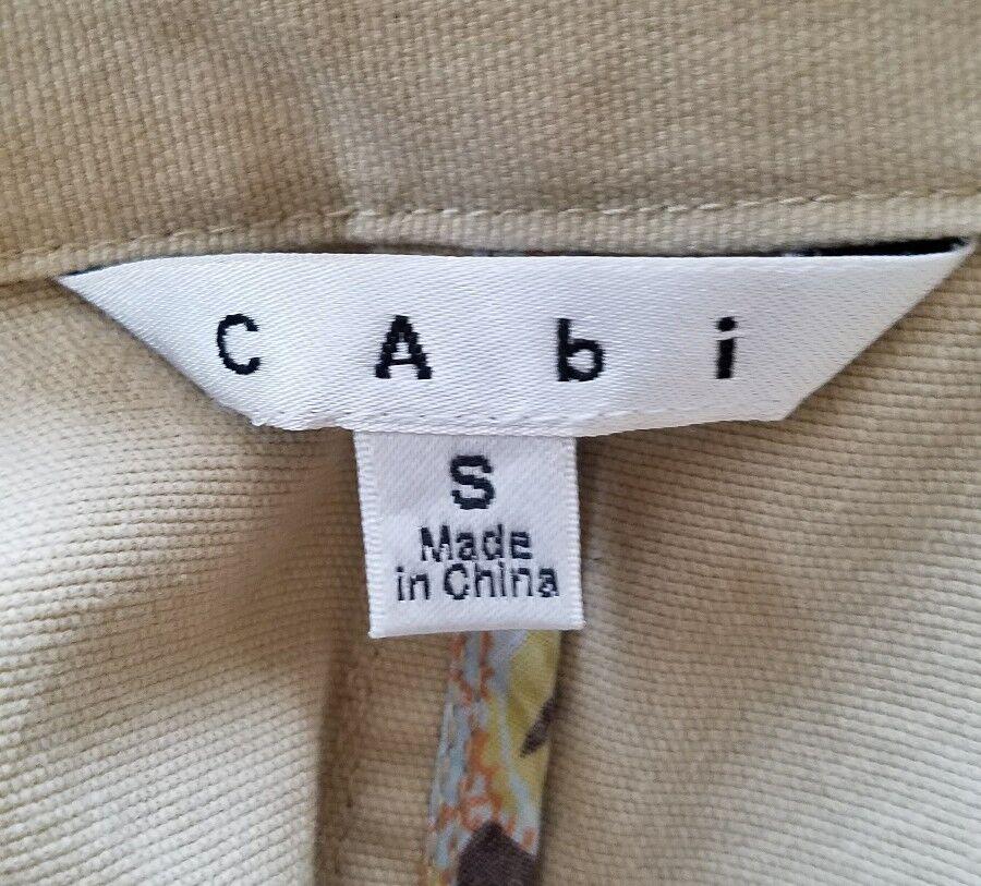 S Cabi Chamois Veste Kaki Blazer Femme Coton Beige xwwqR6TC