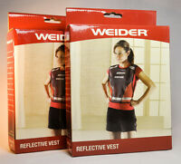 2 Weider Reflective Vests - Wvest08 - Lot Of 2 - Runners, Walkers, Bike Riders