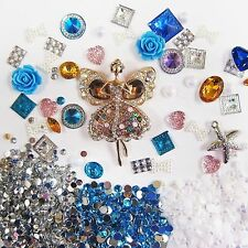 DIY 3D Bling Cell Phone Case Deco Kit: Rhinestone Angel Elf w/ Blue Gem