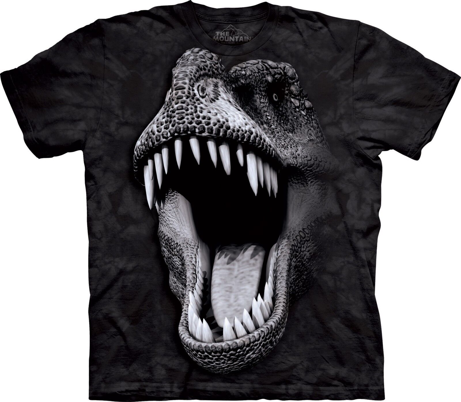 Big Face Glow Rex Dinosaur T Shirt Adult Unisex Mountain