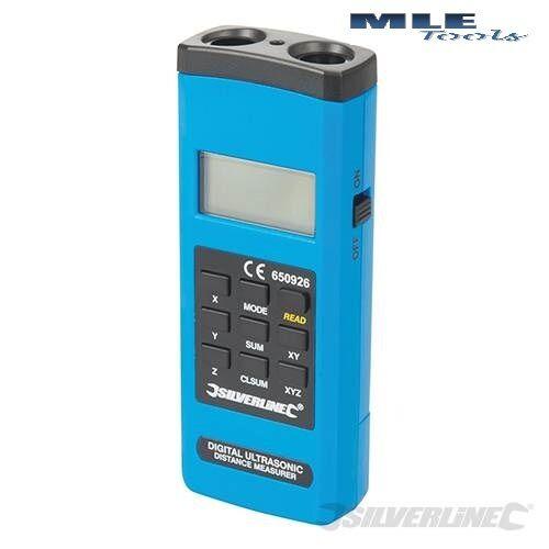 #650926 Silverline Robust Digital Range Measure Laser Tape measuring 0.55-15 m
