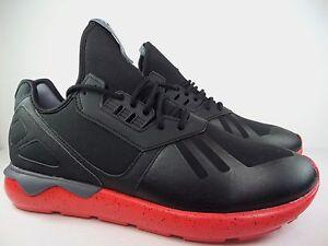 Nuova Uomo adidas originali tubulare runner scarpe sz rosso