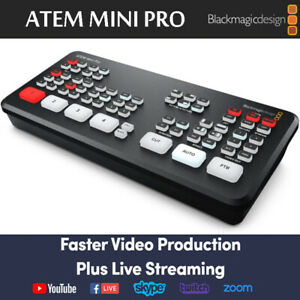 Blackmagic Design Atem Mini Pro Hdmi Live Stream Switcher Multi View Recording Ebay