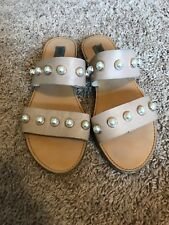 20ca9b25927e item 4 Steve Madden Women s Jole Nude Leather Pearl Studded Slide Sandals  Size US 7 -Steve Madden Women s Jole Nude Leather Pearl Studded Slide  Sandals Size ...