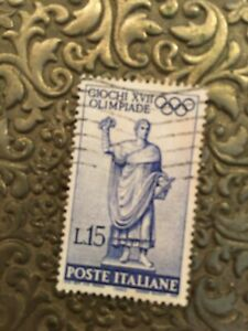 Giochi-XVII-Olimpiade-L15-Stamp-Used-Never-Hinged-Beautiful-Condition-VF