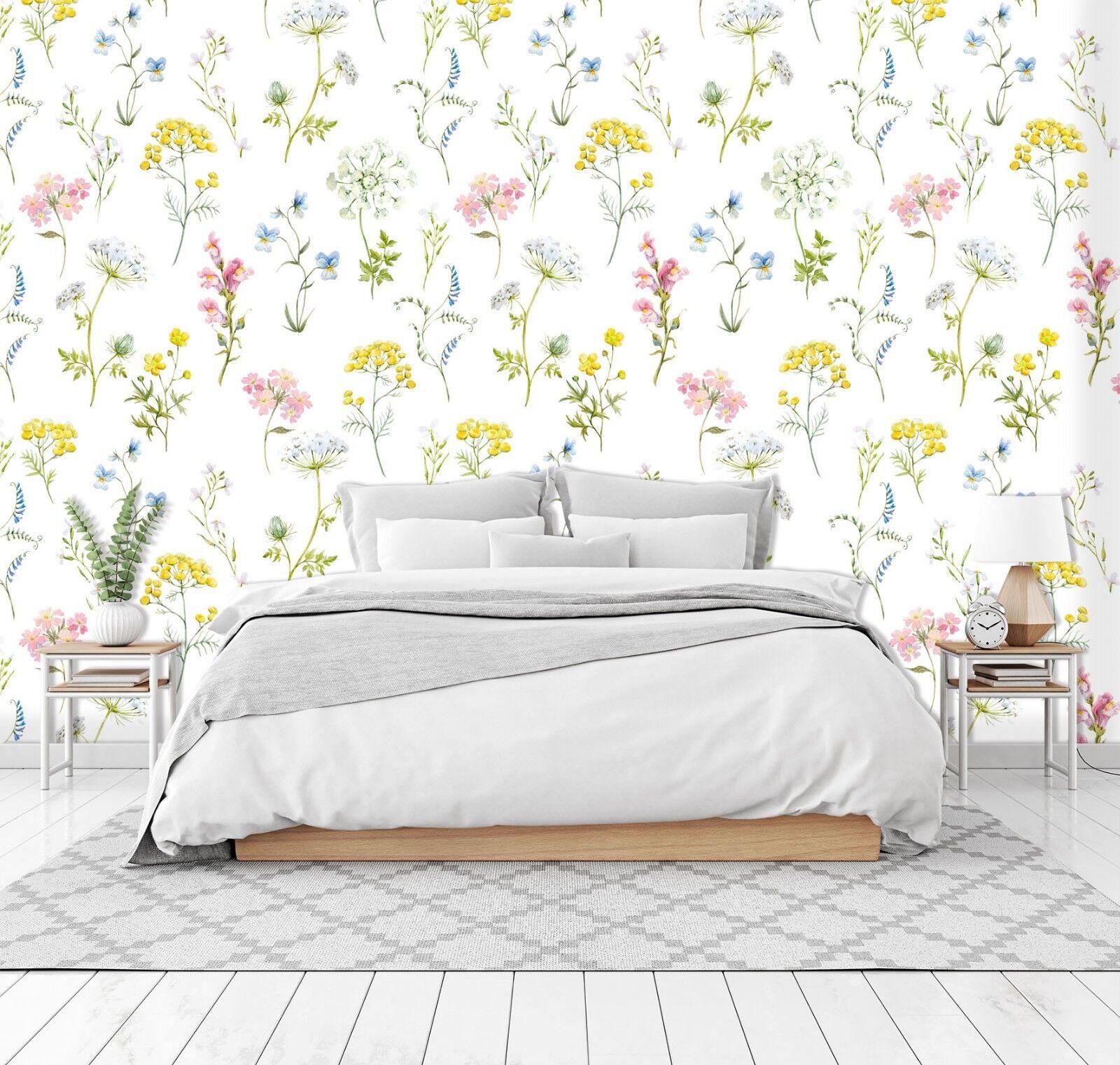 3D Pastoral Style Flowers 56 Wallpaper Murals Wall Print Wallpaper Mural AJ WALL