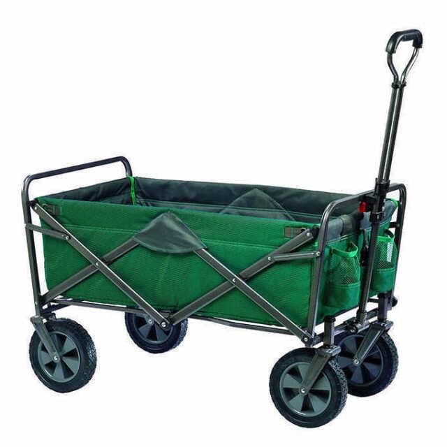 Tofasco Folding 4 Wheel Wagon Green