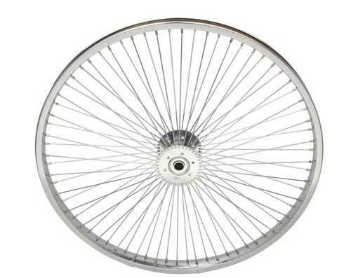 New 24  72 Spoke Hollow Hub Bicycle Tricycle Wheel 14G Chrome fit 5 8  axle