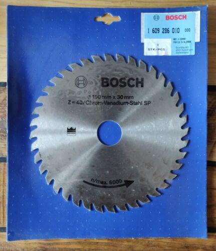 Lame de scie circulaire BOSCH Ø 190 mm x 30 m Z=40//Chrom-Vanadium-Stahl SP